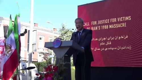 سخنان طاهر بومدرا، تظاهرات در حمایت از جنبش دادخواهی قتلعام ۶۷