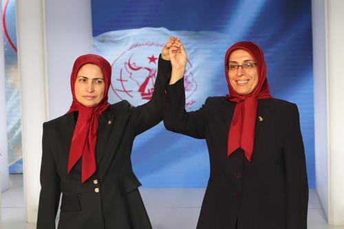 Ms. Merrikhi and Ms. Akhyani (previous Secretary General)