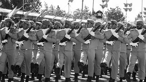 Iranian forces on Army Day parade in Iran