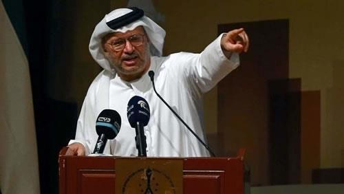 انور قرقاش وزیر مشاور دولت امارات متحده عربی