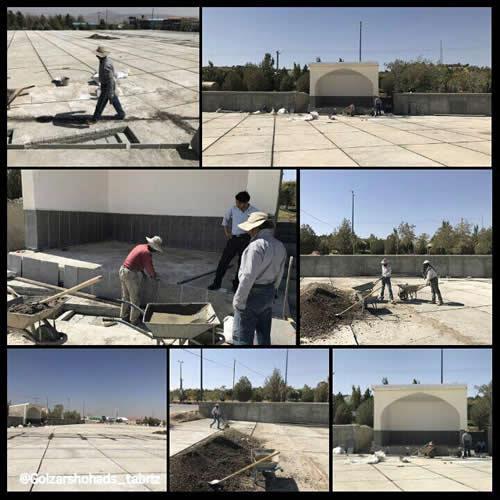 تخریب مزار شهدای مجاهد خلق - وادی رحمت تبریز