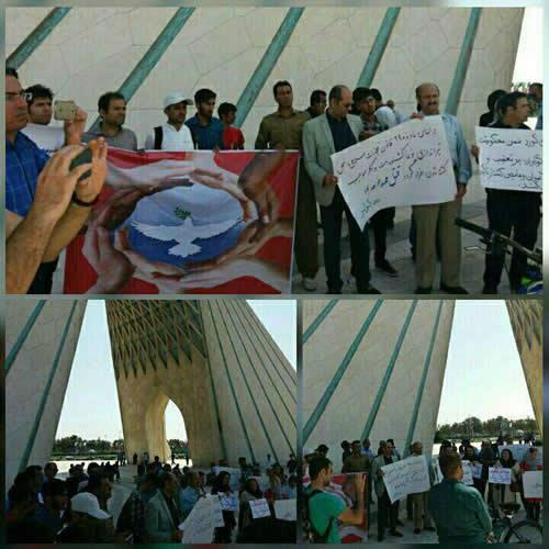 Tehran resisdents support border poerters