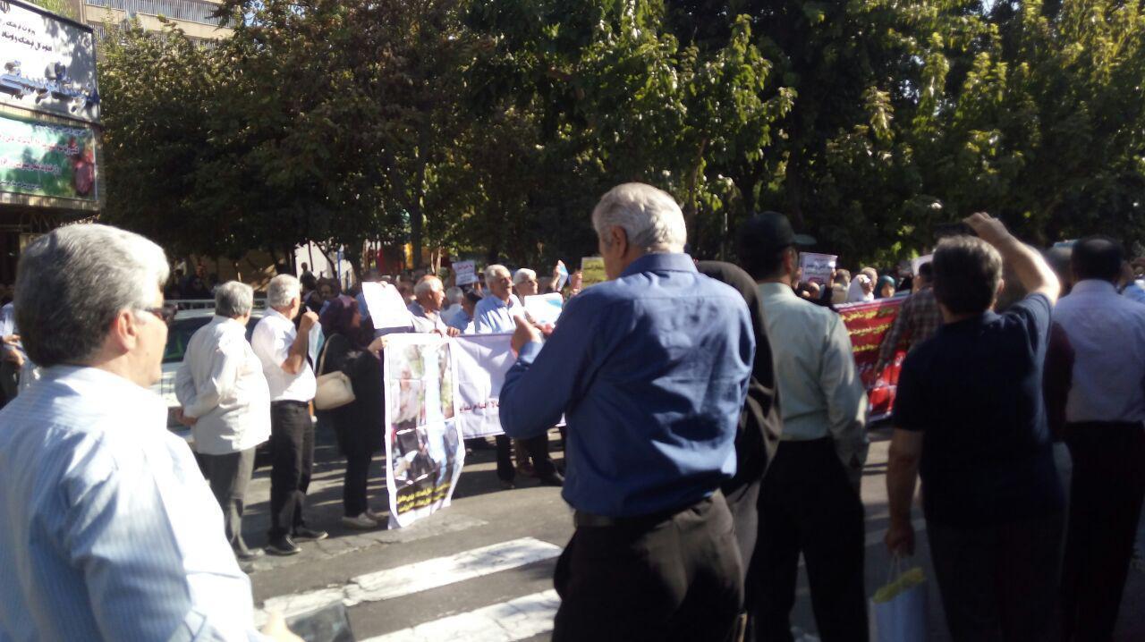 تجمع اعتراضی قریب به دو هزار نفر از بازنشستگان در تهران