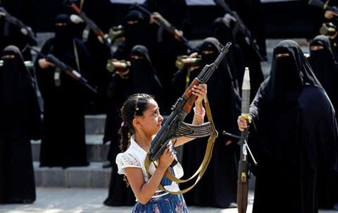 Houthi militia run a massive covert curriculum to train women using various weapons and boost their ability