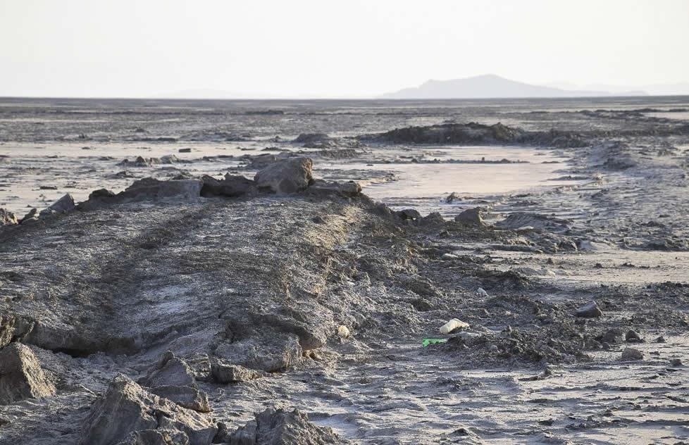 تصویری از خشک شدن دریاچه ارومیه