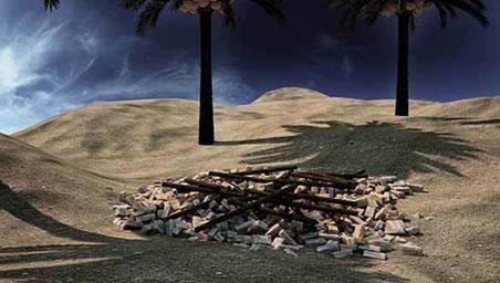 تخریب مزار شهیدان - کربلا
