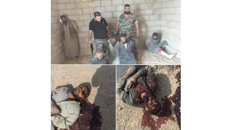 Assad terrorist carries out ISIS-like summary execution against civilians