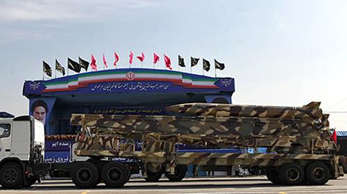 A missile on parade during Iran's Sacred Defense Week, Sept. 22. 2017
