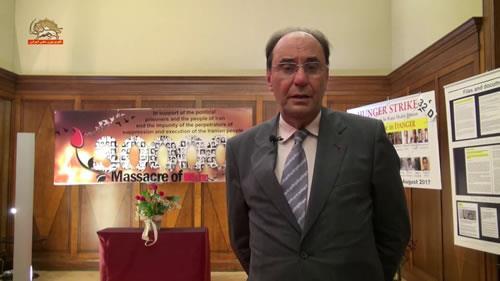 دکتر آلخو ویدال کوادراس، نمایشگاه یادبود شهیدان سربدار قتلعام ۶۷ در بروکسل