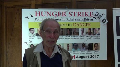 پروفسور اریک داوید، نمایشگاه یادبود شهیدان سربدار قتلعام ۶۷ در بروکسل