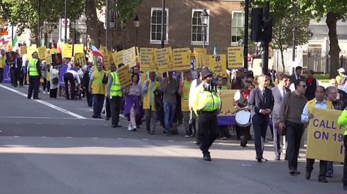 انگلستان، تظاهرات در حمایت از جنبش دادخواهی قتلعام ۶۷