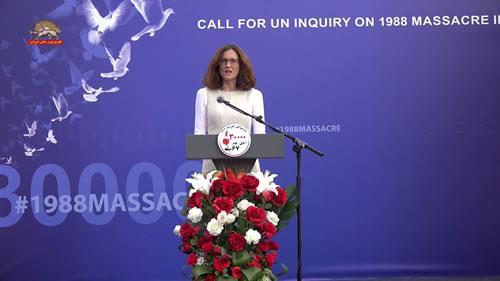 ترزا ویلیرز، تظاهرات در حمایت از جنبش دادخواهی قتلعام ۶۷