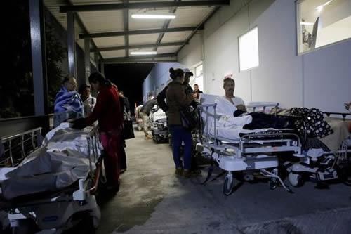 Hospitals moved everyone outdoors amid fears of a building collapse