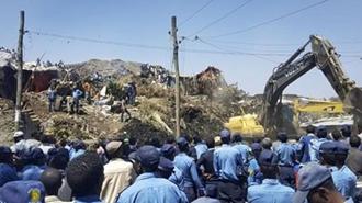 رانش توده عظیمی از زباله در اتیوپی