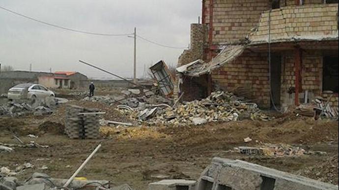 تخریب خانهها در روستای خین چماقی مشهد