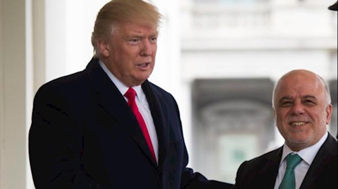 دیدار حیدر عبادی با دونالد ترامپ
