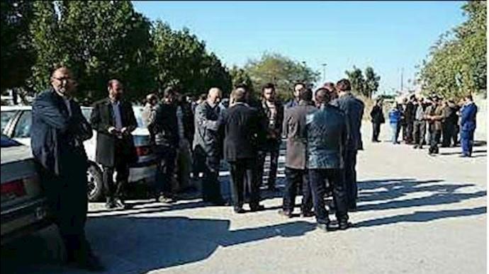 تجمع اعتراضی پرورش-دهندگان ماهی در خرمشهر