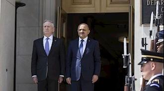 جیمس ماتیس و  فیکری ایشیک وزیردفاع ترکیه