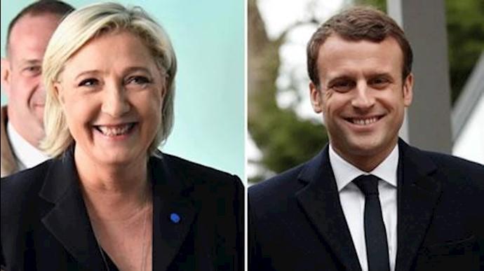 امانوئل ماکرون و مارین لوپن به دور دوم انتخابات راه یافتند