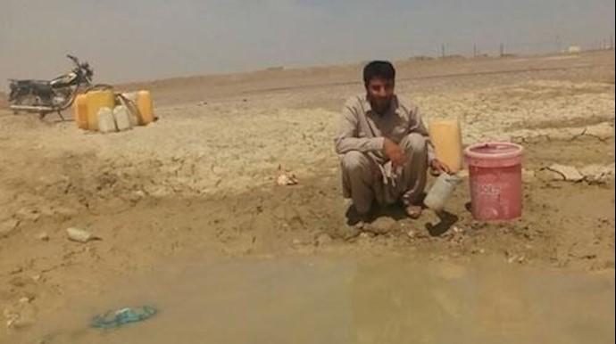 وضعیت آب آشامیدنی در روستای گزاب