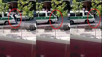 زیر گرفتن یک دختر جوان توسط خودرو نیروی انتظامی در اردکان یزد