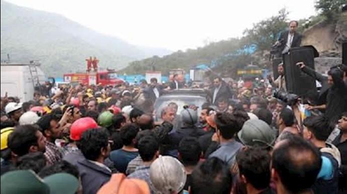 حمله به خودرو آخوند حسن روحانی در معدن یورت