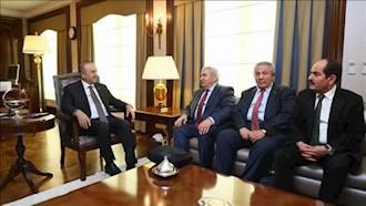 وزیر خارجه ترکیه با رئیس جدید ائتلاف ملی سوریه