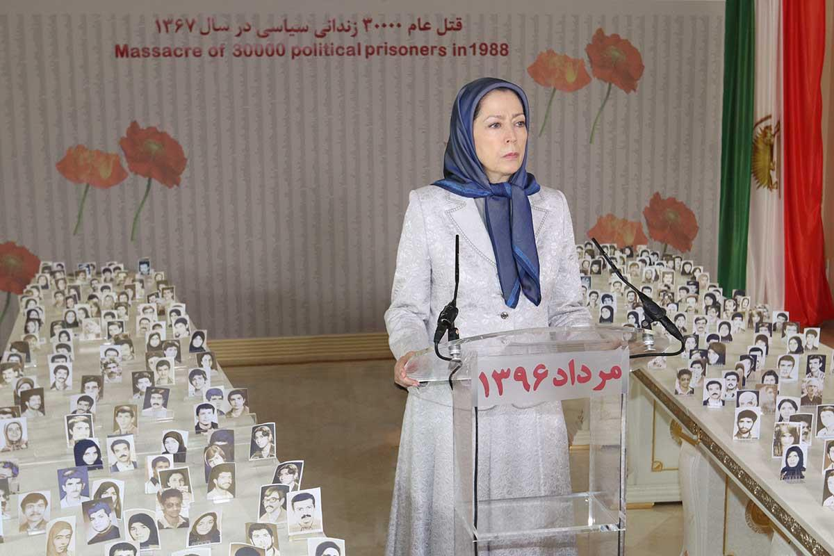 Maryam Rajavi remembers the anniversary of the 1988 massacre of political prisoners in Iran