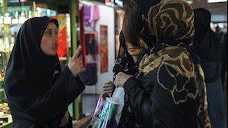 سرکوب زنان به بهانه آخوند ساخته بدحجابی - آرشیو