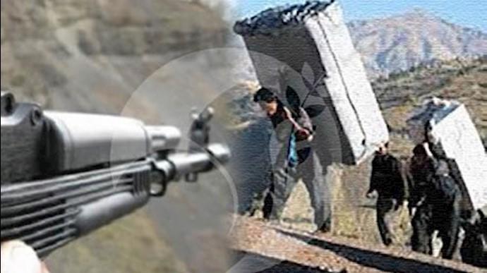 شلیک مستقیم نیروهای سرکوبگر انتظامی به کولبران زحمتکش