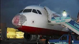 بارش تگرگ هواپیماهای ترکیه را وادار به فرود اضطراری کرد