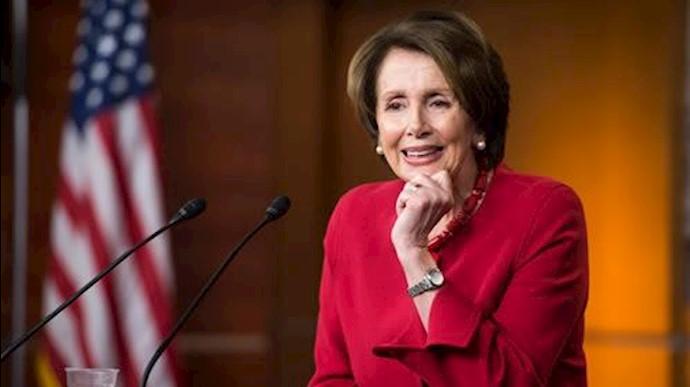 نانسی پلوسی رهبر دموکراتها در کنگره آمریکا
