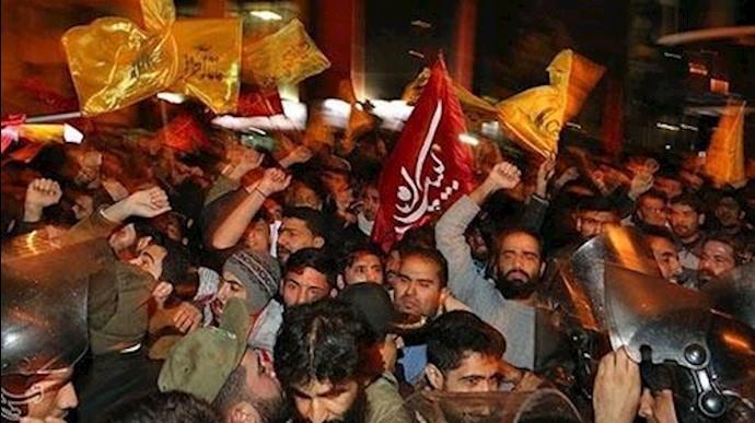 حمله مزدوران  و چماقداران خامنه ای به سفارت عربستان در تهران و مشهد