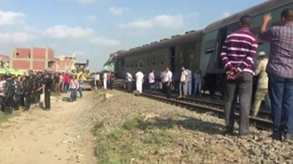تصادف دو قطار در مصر
