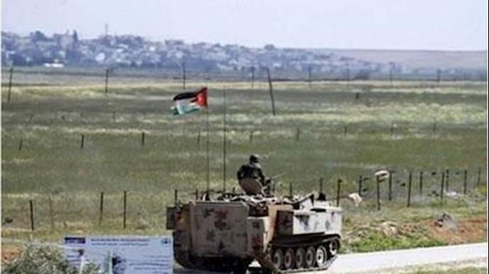 مرز اردن و سوريه