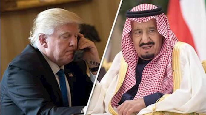 تماس تلفنی دونالد ترامپ با ملک سلمان