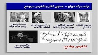 هیأت مرگ تهران، مسئول شکار و تشخیص سرموضع بودن
