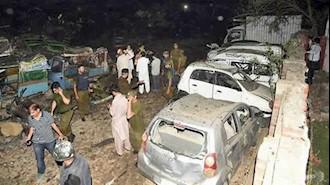 انفجار کامیون بمبگذاری شده در شهر لاهور پاکستان