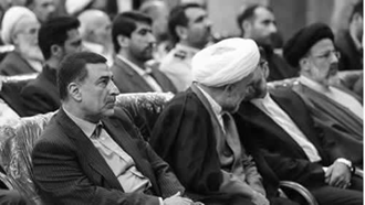جلاد علیرضا آوایی(سمت چپ) و جلاد ابراهیم رئیسی(سمت راست) از عاملین قتل عام 67