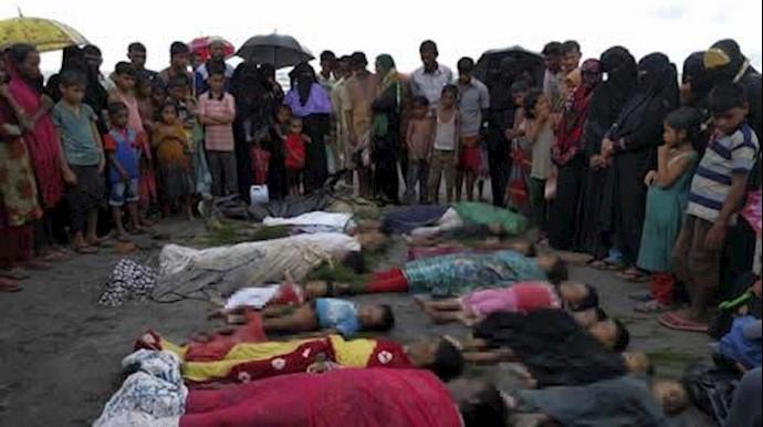 میانمار، صحنه های مسلمانان کشته شده