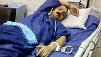 زندانی سیاسی رضا شهابی در اعتصاب غدا با دستان بسته