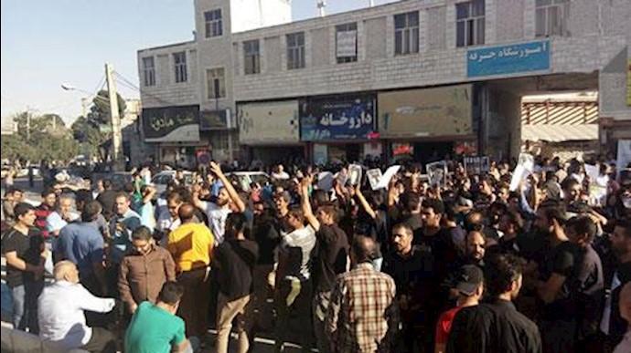 تجمع اعتراضی مردم ازنا و بستن جاده  ازنا- اراک