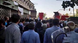 حمایت تظاهرکنندگان از زندانیان اعتصابی