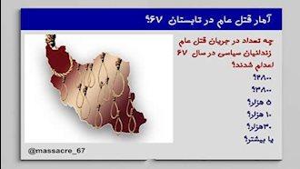 قتلعام ـ آمار زندانیان سیاسی قتلعام شده در سال ۱۳۶۷