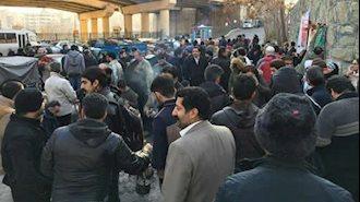 تجمع اعتراضی علیه سرکوب رژیم در مقابل زندان اوین
