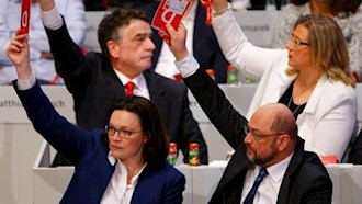 موافقت کنگره حزب سوسیالدموکرات آلمان برای تشکیل دولت ائتلافی با مرکل