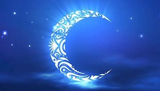 طرحی از ماه در آسمان