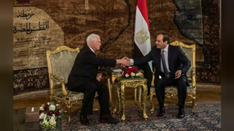 مایک پنس و عبدالفتاح السیسی