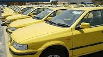 تجمع رانندگان تاکسی قزوین