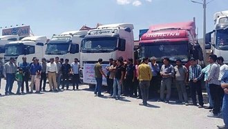 جهرم - اعتصاب رانندگان کامیون